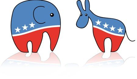 Why are a donkey and an elephant the symbols of the.