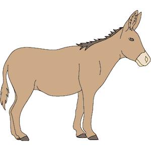 Christmas donkey clipart.