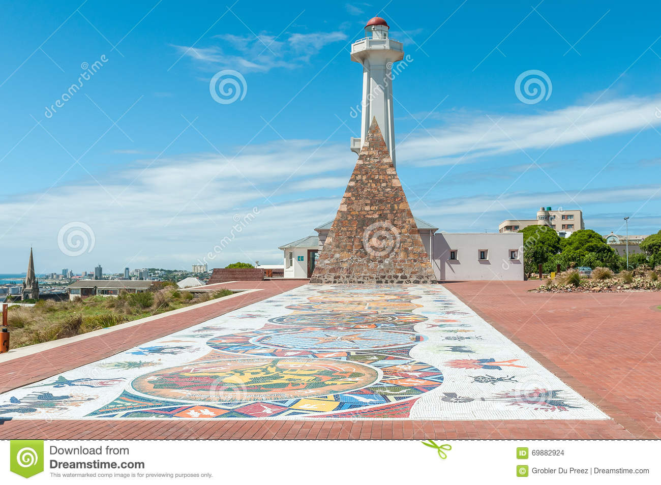 Mosaic Art At Donkin Reserve Along Route 67 Editorial Stock Image.