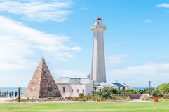 Donkin Lighthouse And Pyramid In Port Elizabeth Stock Photo.
