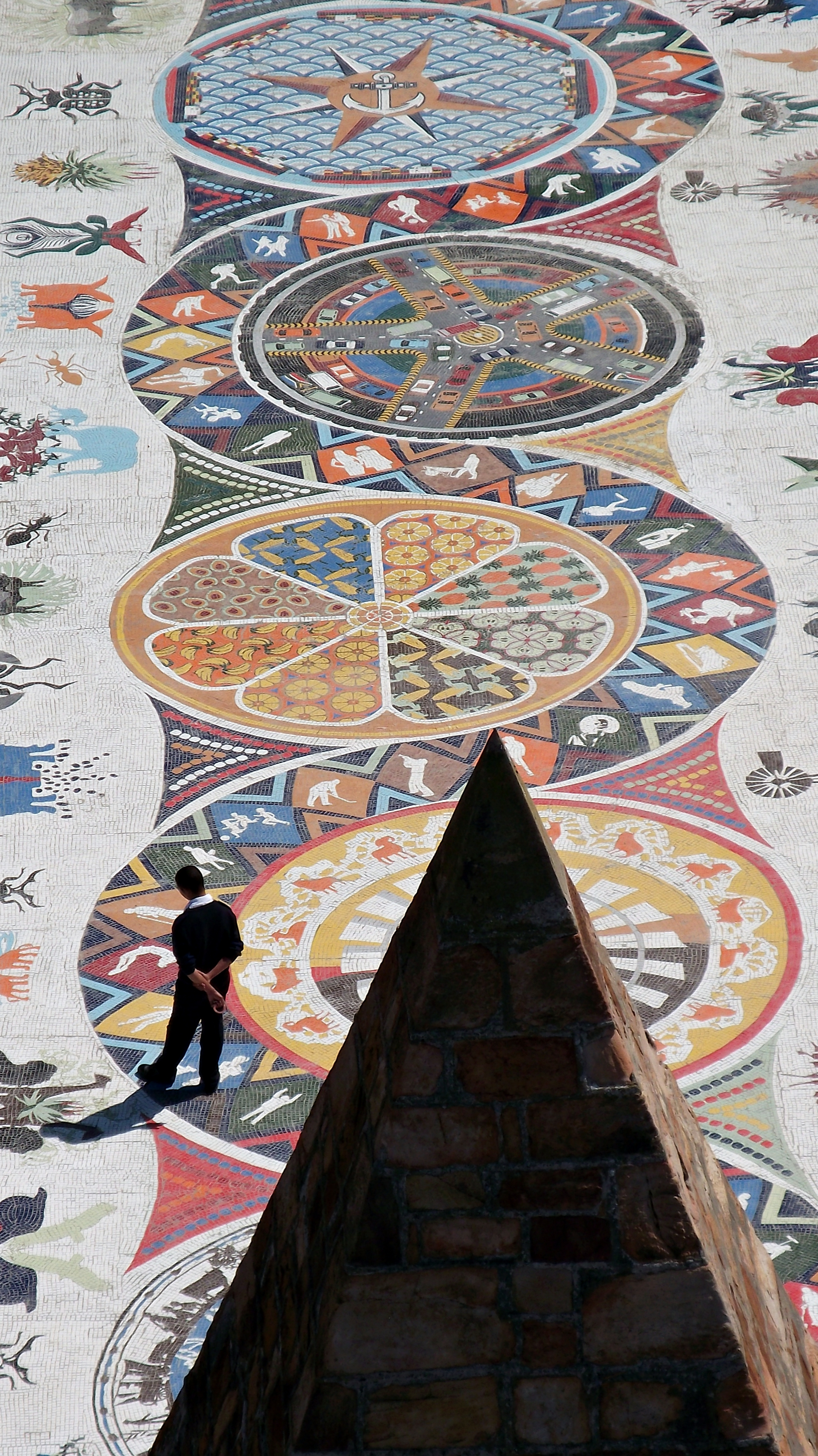 File:Mosaic walkway at the Donkin Reserve Port Elizabeth South.