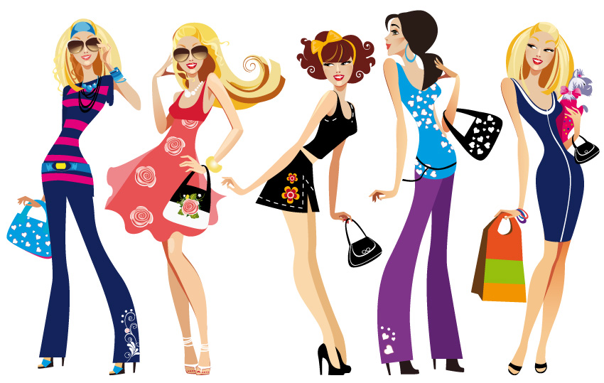 Fall Fashion For Women Clipart.
