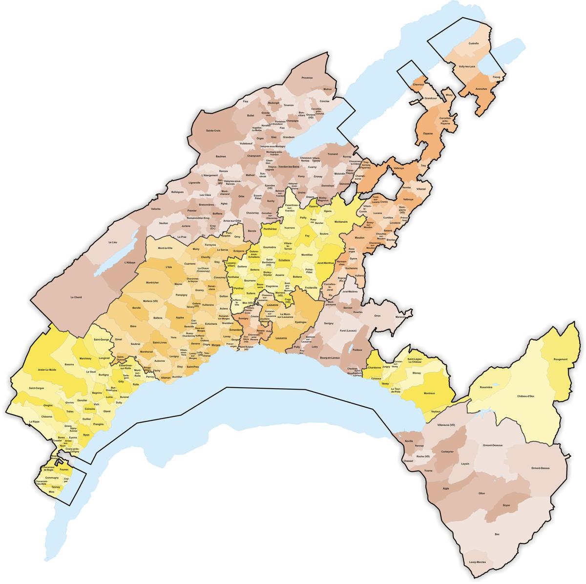 Municipalities of the canton of Vaud.