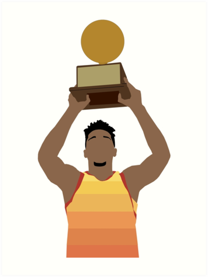 \'Donovan Mitchell Dunk Contest Champion\' Art Print by Sport Surge.