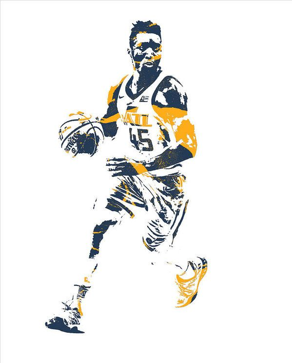 Donovan Mitchell Utah Jazz Pixel Art 25 Art Print by Joe.