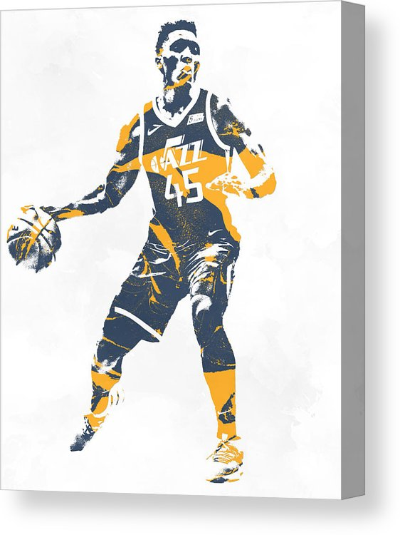 Donovan Mitchell Utah Jazz Pixel Art 10 Canvas Print.