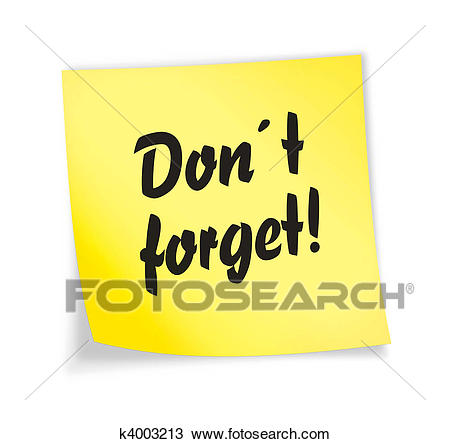 Dont Forget Clipart (101+ images in Collection) Page 3.