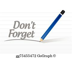 Dont Forget Clip Art.