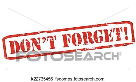 Dont Forget Clipart.