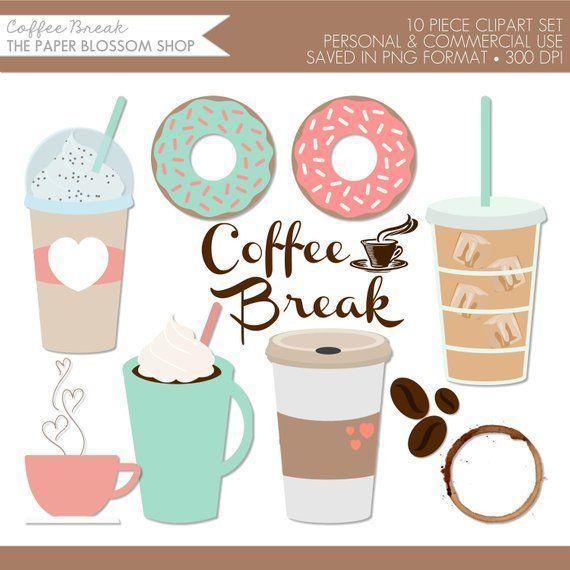 Coffee Clipart,Coffee Clip Art,Coffee Break Clipart,Donut.