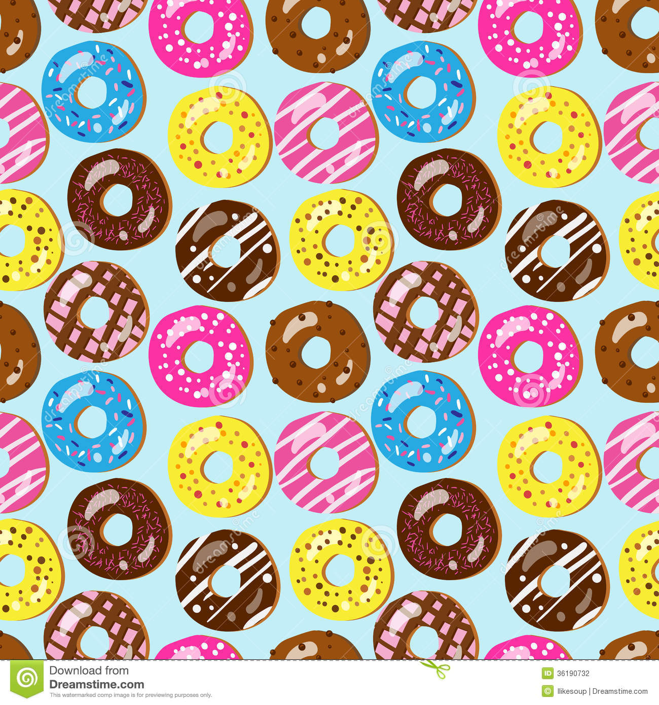 2688 Donut free clipart.