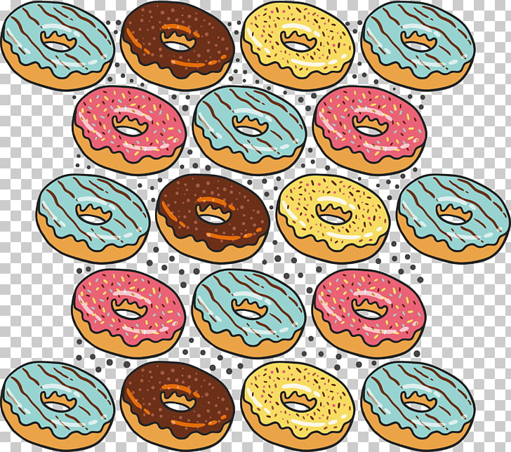 Bread Poster , Donut bread background pattern PNG clipart.