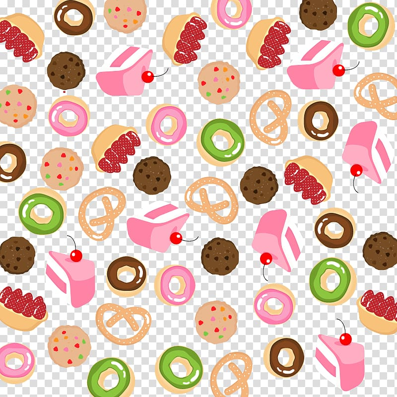 Doughnuts and cookies illustration, Doughnut Bakery Cake.
