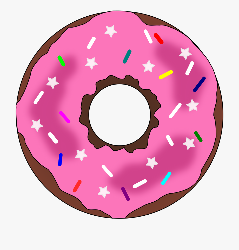 Stars And Sprinkles Donut.