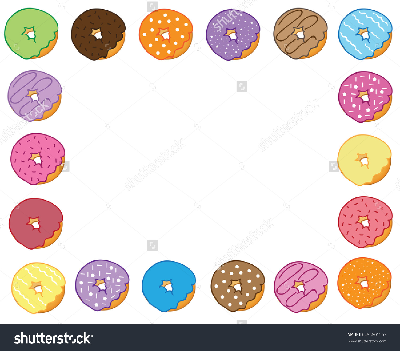 Donut Border Stock Illustration 485801563.