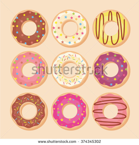 Top View Donuts Border Copy Space Stock Vector 422222791.