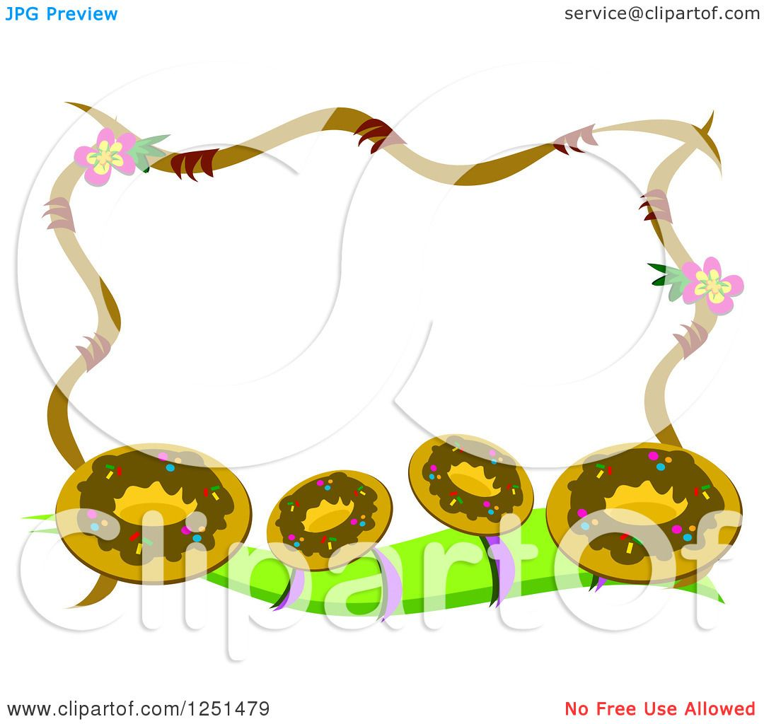 Clipart of a Border of Donuts.