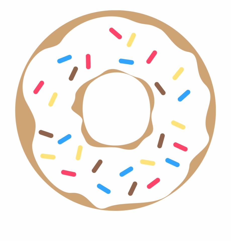 Pink Donut With Sprinkles Free Printable.