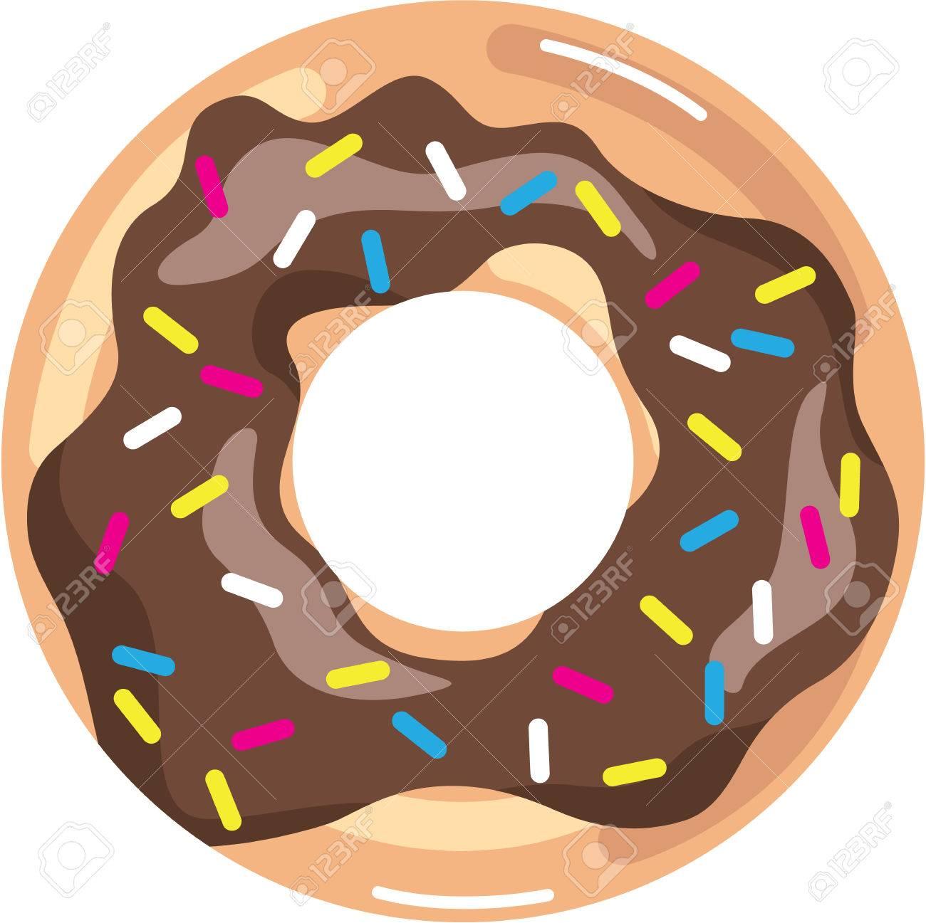 Chocolate Glazed Donut illustration clip.