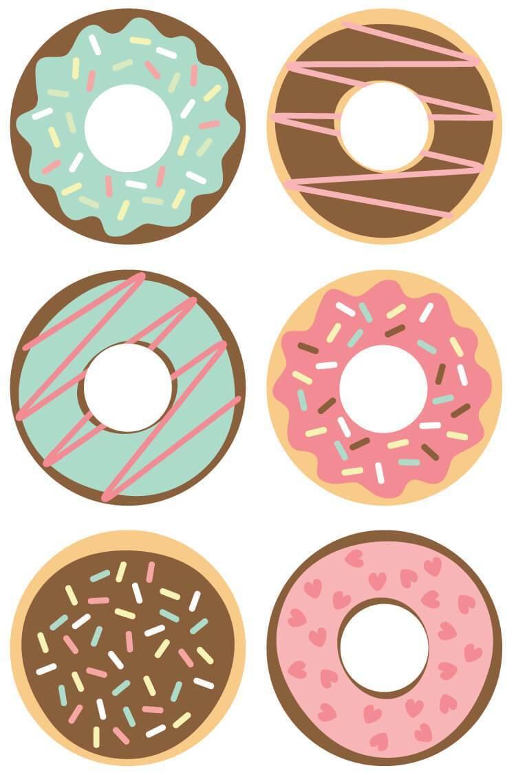 Donut Cut Files + Clip Art.