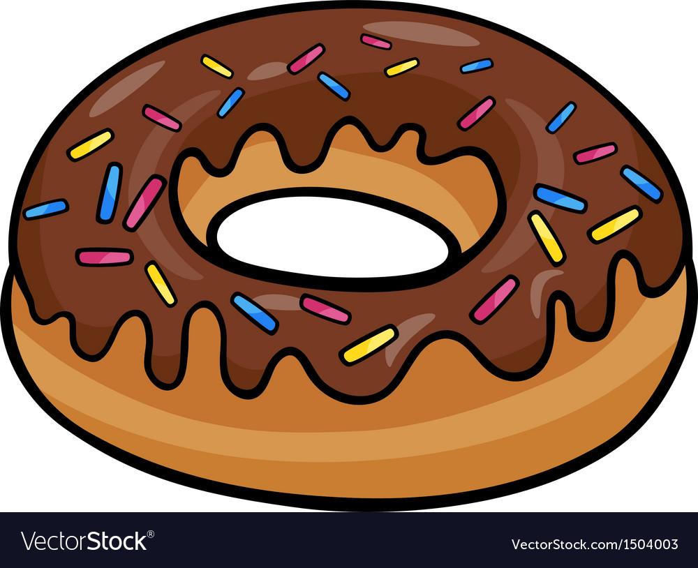Donut clip art cartoon.
