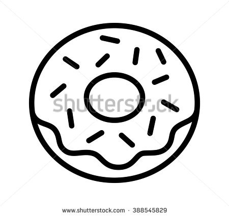 Donut clipart black and white 3 » Clipart Station.