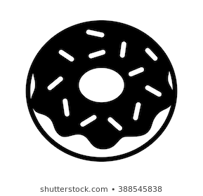 Donut clipart black and white 3 » Clipart Portal.