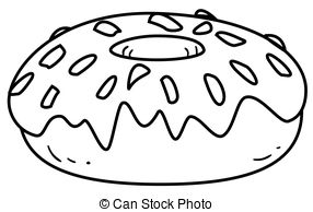 Donut clipart black and white 2 » Clipart Station.
