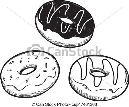 Image result for black and white donut clipart.