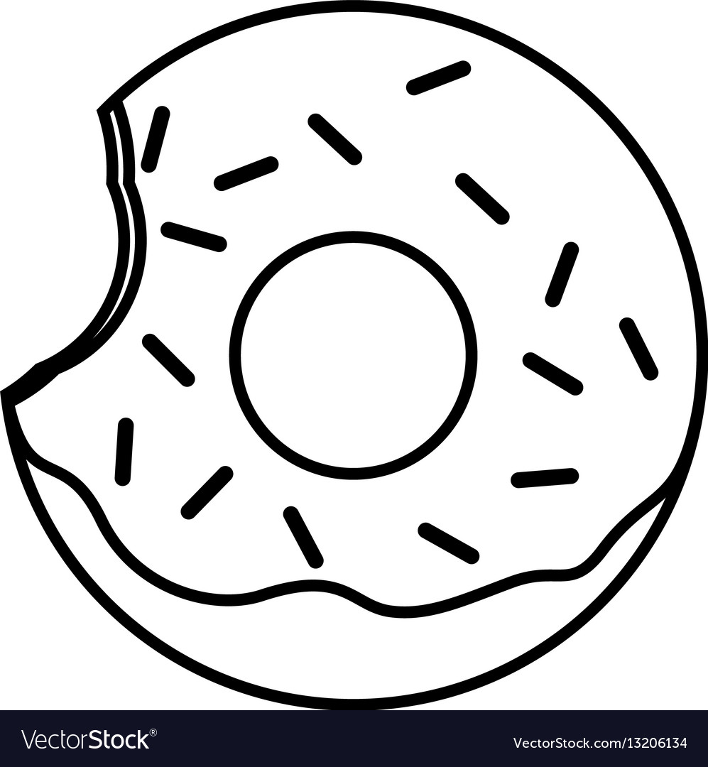 Donut With Sprinkles Png Black And White & Free Donut With Sprinkles.