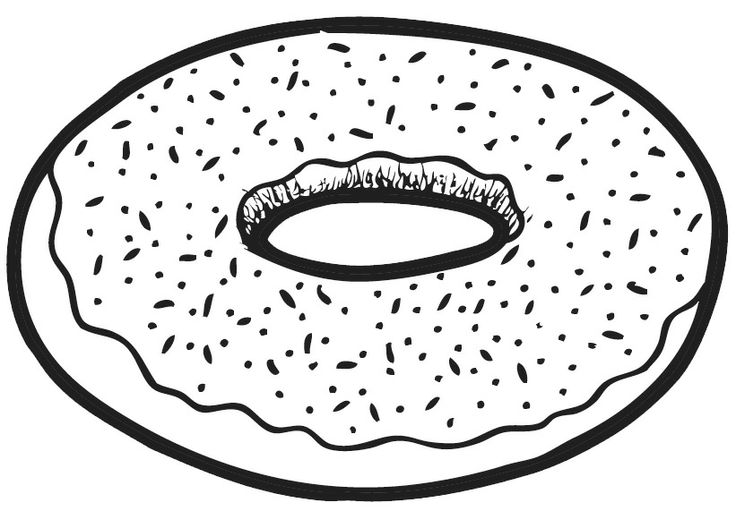 Donut clipart black and white 6 » Clipart Station.