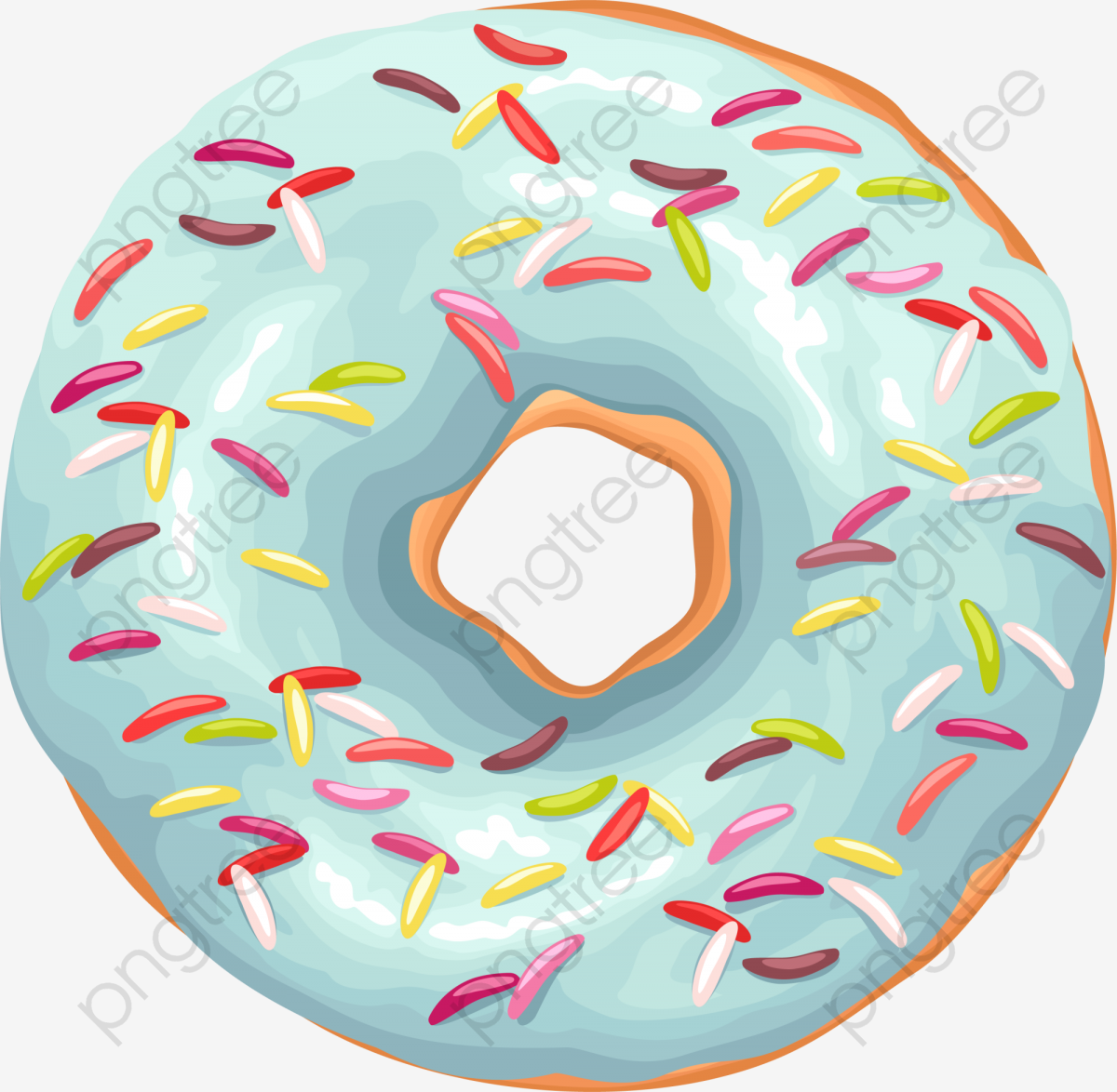 Green Delicious Donut, Donut Clipart, Green, Delicious PNG.