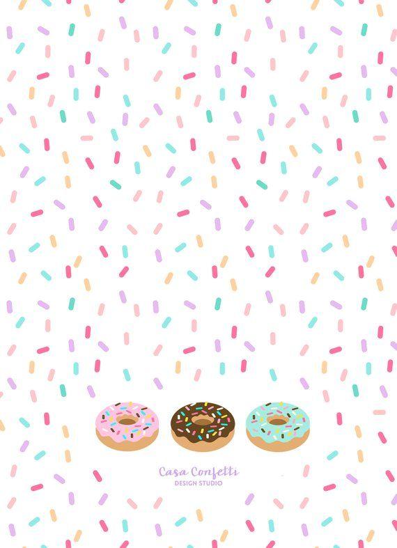 Donut Birthday Invitation, Donut Invitation, Doughnut.