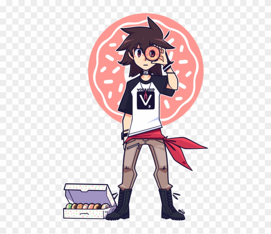 Kyo Vocaloid Donut Hole Clipart (#1663406).