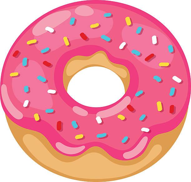 Best Glazed Donut Illustrations, Royalty.
