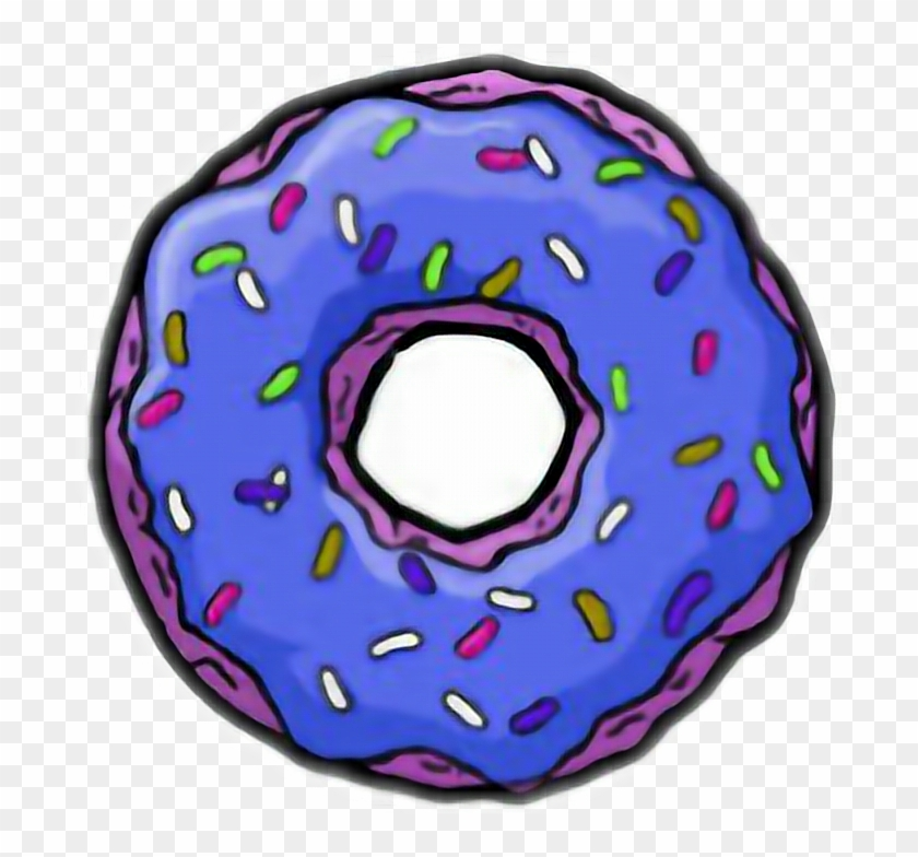 Transparent Donut Sticker Purple Tumblr Pictures Png.