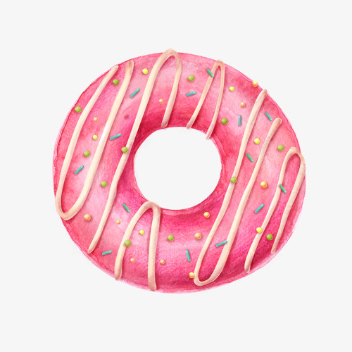 A Donut, Donut Clipart, Pink, Dessert PNG Transparent Image and.