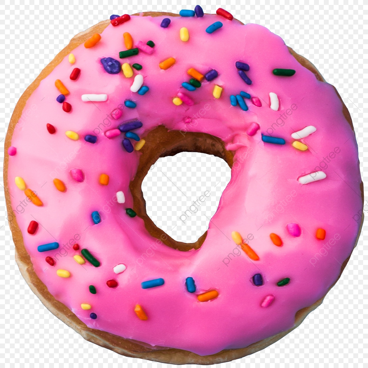Pink Donut Vector, Png, Donut, Donuts PNG Transparent Clipart Image.