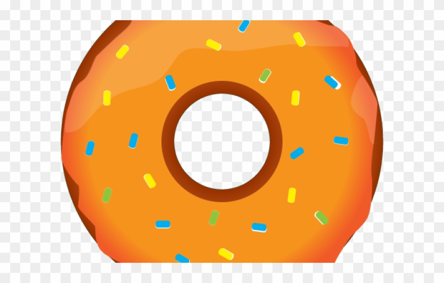 Dougnut Clipart Orange Donut.