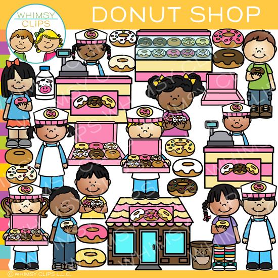 Fun Donut Shop Clip Art.