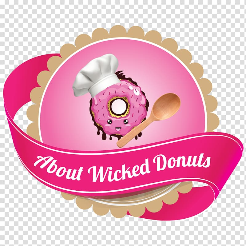 Graphics illustration , Donut shop transparent background.
