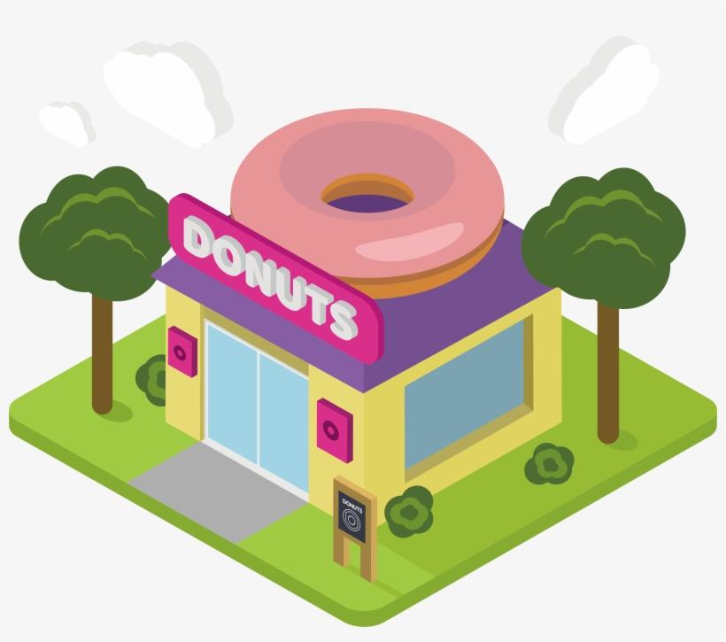 Shop Clipart Donut Shop.