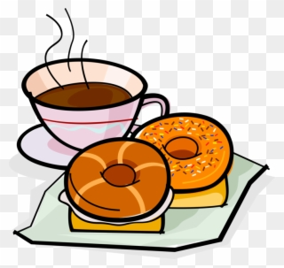 Free PNG Coffee And Donuts Clip Art Download.