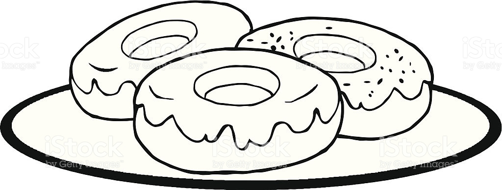 Free Donut Clipart Black And White.