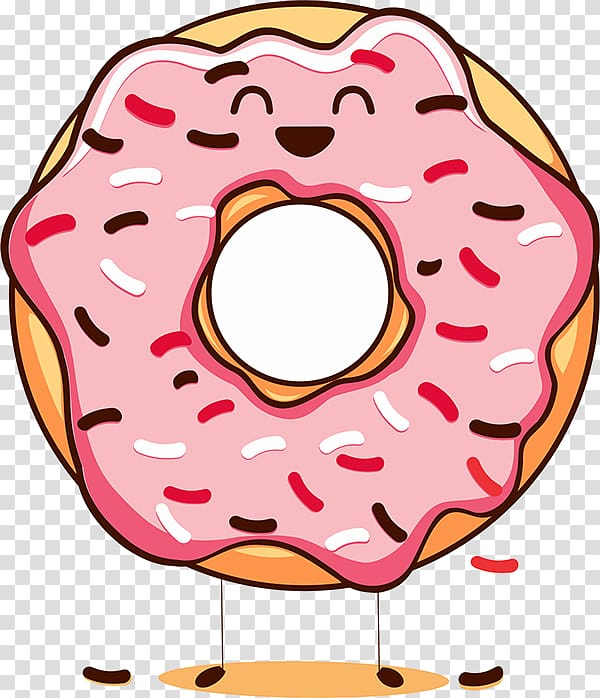 Happy Donuts National Doughnut Day Cream , donut cartoon transparent.