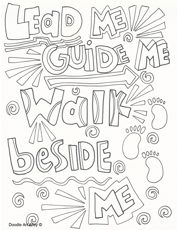 Primary songs Doodles coloring pages.