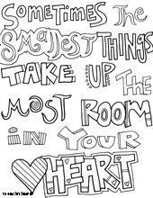 This page has some great quotes that kids can color in and then.