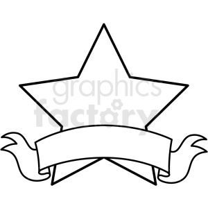 doodle notes elements star with banner clipart. Royalty.