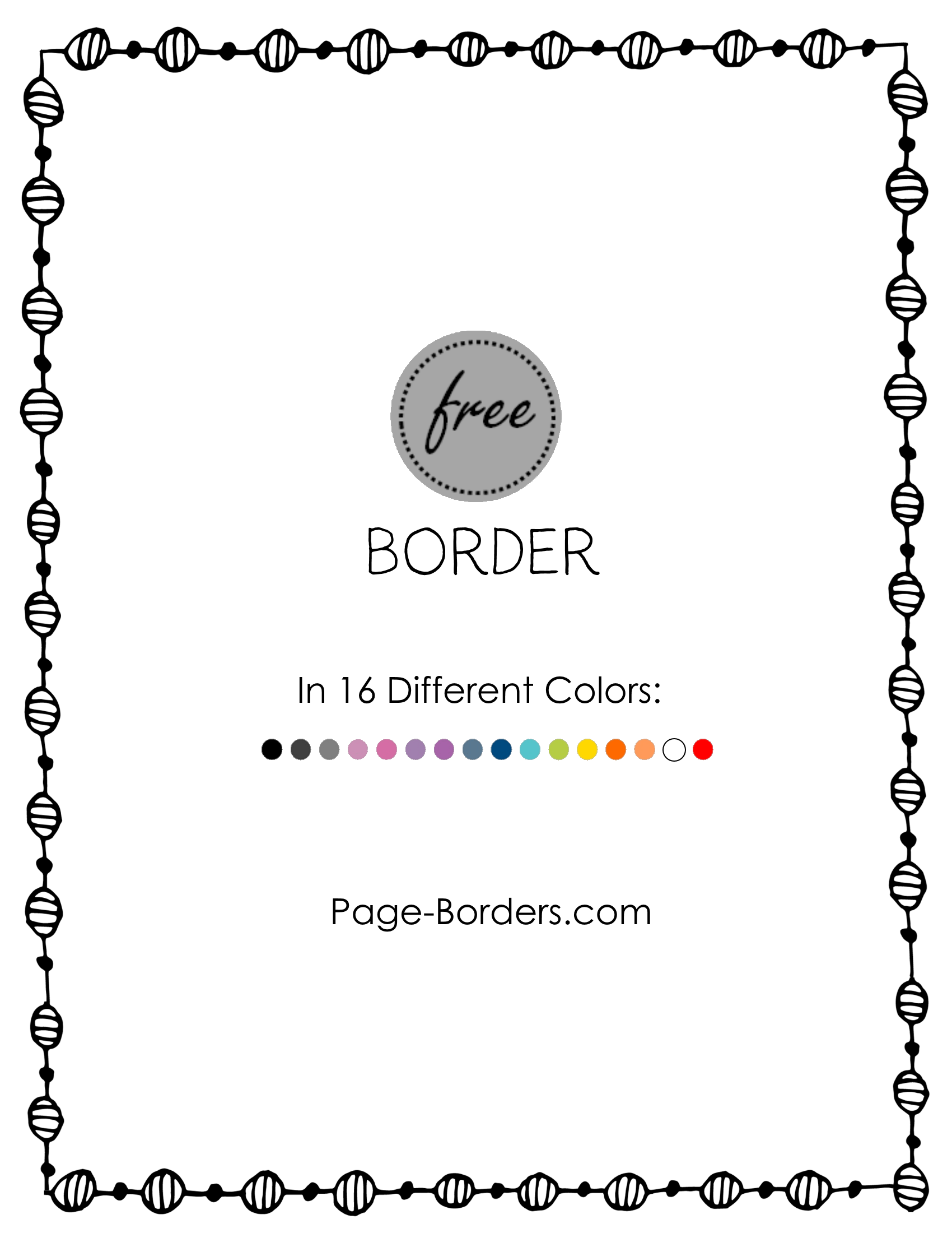 Free border doodle.