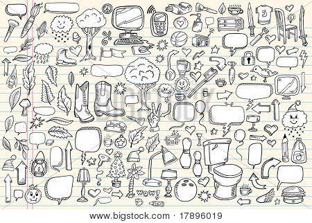 Doodle art clipart.